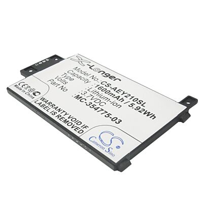 1600mAh Battery For Amazon EY21, Kindle Paperwhite, Kindle Touch 3G 6
