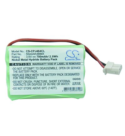 Cameron Sino 3.6V Ni-MH 700mAh Rechargeable Cordless Home Phone Battery Replacement for GE TL26401 GP 60AAAH3BMXZ 35AAAK3BMX 55AAAH3BMX 60AAAH3BMX Home Handset Telephone