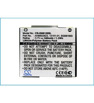 UK Battery for GN Netcom 9120 Netcom 9125 14151-01 14151-02 3.7V RoHS