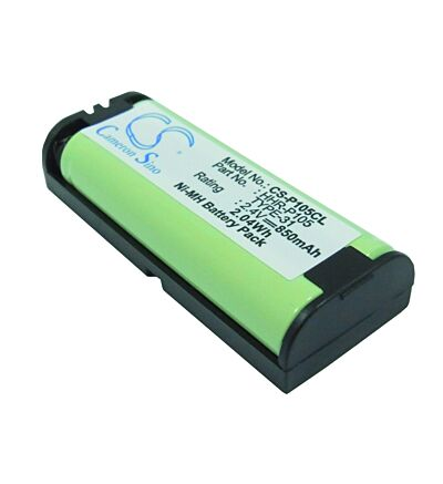 Replacement battery for cordless phone HHR105 2.4 volts 850 mAh model CS-P105CL