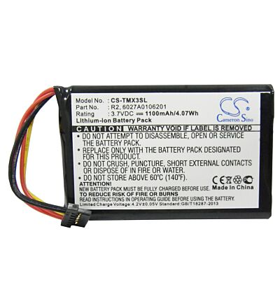 Battery for TomTom 5EP0.029.01 4EP0.001.02 6027A0106201 XXL IQ Routes 1EP0.029.0