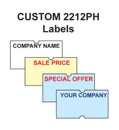 CT1 22 x 12mm Punch Hole Printed Labels 10K / 20K / 50K (Coloured)